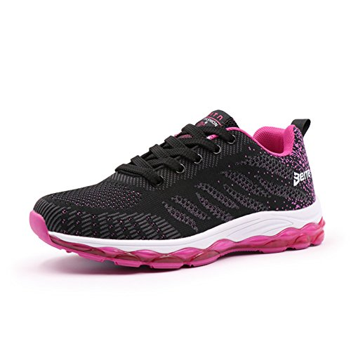 Noticias Mujeres Air Cushion Shoe Transpirable Lightweight Walking Street Gym Sneakers Deportes Zapatos Casuales Para Lady Black