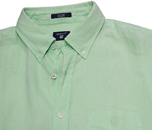 Gant Herren Freizeit-Hemd, Einfarbig Pale Jasmine Large