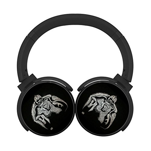 (MagicQ Viking Bear Bluetooth Headphones,Hi-Fi Stereo Earphones Black)