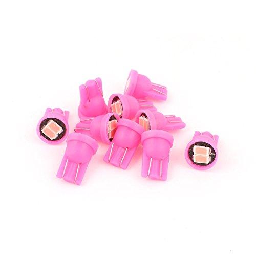 uxcell 10Pcs T10 152 5630 2-SMD LED Dashboard Light Bulbs Pink 12V Internal