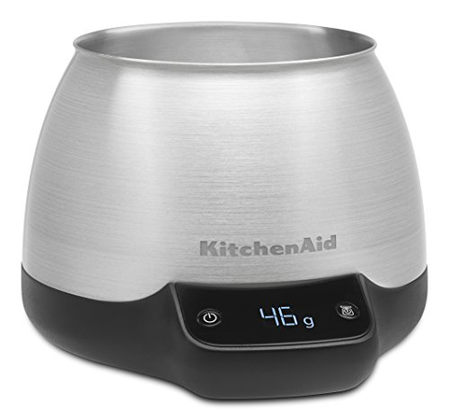 Digital Scale Jar Burr Grinder Accessory, Brushed Stainless Steel (Kitchenaid White Coffee Maker)