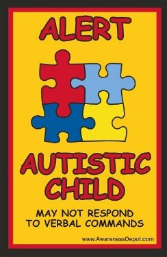 Amazoncom Autism Decal Autistic Child Alert Window Clings For - Window alert decals amazon