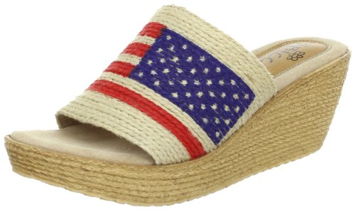 Sbicca Women's Liberty Wedge Sandal,Natural,7 B US