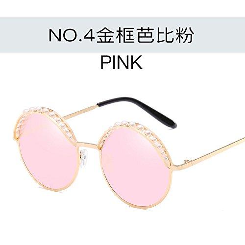 Todo oro Señoras Pearl Redondo Negro Gris Gafas polvo Elegante Sol Mar Junto De Gafas de Personalidad Sol Marco en Sol Gafas Gafas Al De JUNHONGZHANG Bastidor Bastidor Moda De 5B8xwqt1xF