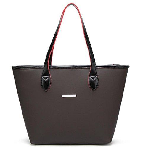 Women All-matching Cross Body Shoulder Tote Bag (Black) - 9