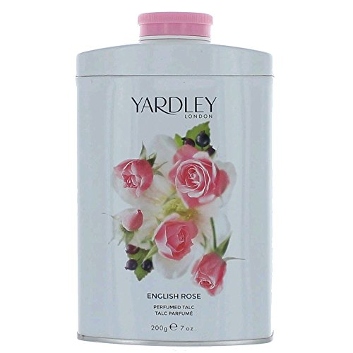 Yardley London Scented Talc Powder, English Rose Scent, 7 Oz