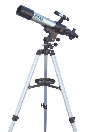 MIZAR-TEC astronomical telescope refractive aperture 70mm focal length 500mm vertical and horizontal fine motion device with mount TL-750