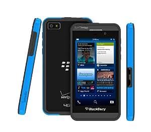 Poetic Borderline Bumper Case for RIM Blackbery Z10 Smartphone (AT&T, T-Mobile, Sprint, Verizon) Dark Blue/Gray (3 Year Manufacturer Warranty From Poetic)