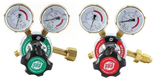 (SÜA Oxygen and Acetylene 25HX Regulators Combo)