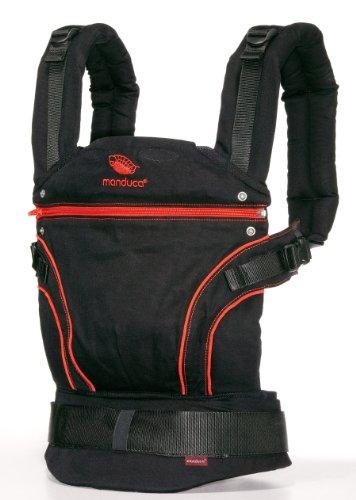 Manduca 222-20-11-003 - Mochila portabebés, diseño Radical Red Negro/rojo
