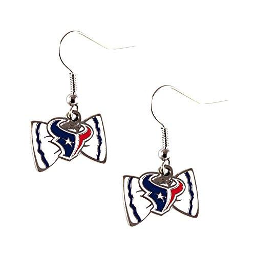 Bow Tie Logo Dangle Earrings (NFL Houston Texans Bow Tie Earring Dangle)