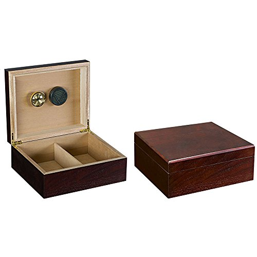 Prestige Import Group - The Chardonnay Cigar Humidor - Color: Real Wood Walnut - Humidor Cedar Cigar