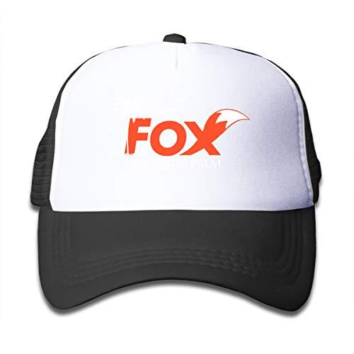 - Wisconsin Fox Adjustable Mesh Cap Trucker Hats for Baby, Toddle Black