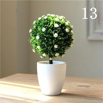 Jiale3536 Kunstliche Blumen Die Topfpflanze Bonsai Baum Pflanze Fake