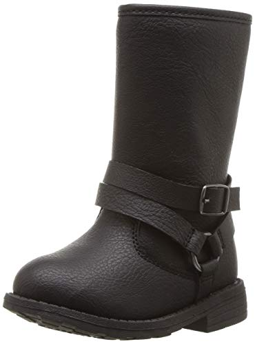 Girls Dressy Boots (carter's Girls' Cicily Riding Fashion Boot, Black, 8 M US)