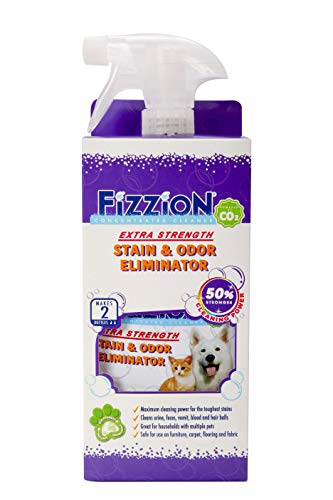 (Fizzion Extra Strength Pet Stain & Odor Remover 23oz Empty Spray Bottle 2 Refills (Makes 46oz) (Extra Strength))