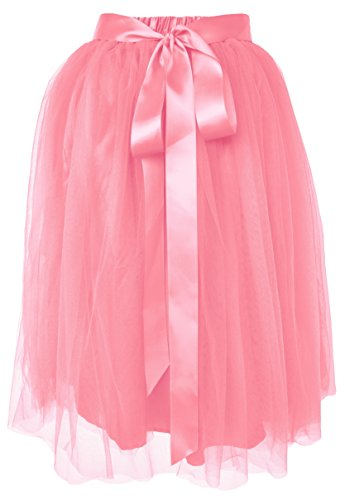 Dancina Women's Knee Length Tutu A Line Layered