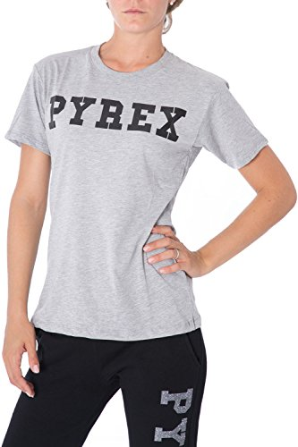 PYREX - Damen regular fit printed t-shirt 33008 S Grau