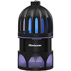 Eliminator Robust Indoor Mosquito and Fly Trap with Bright LED UV Light Attracter and Fan / Get Rid of All Mosquitoes and Flies – Mosquito Catcher and Killer for Residential and Commercial Use