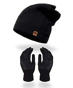 Mokie Winter Beanie for Men & Women Thermal Fleece Lined Soft Knit Hat Cuffed Plain Skull Cap