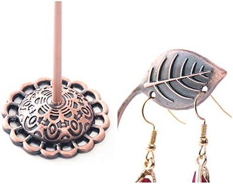 Westeng 3X//Set Exquisito Soporte de Metal para Joyas Forma de la Hoja Caja de la Joyer/ía Expositor para Joyas para Pulseras Pendientes Negro