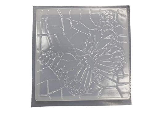 Square Mosaic Look Butterfly Concrete or Plaster Mold 1116
