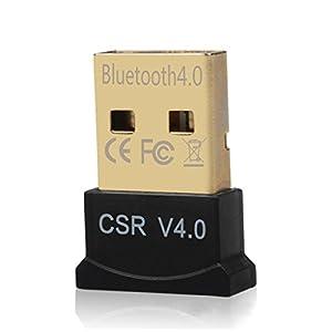 DayKit Mini USB Bluetooth CSR 4.0 Dual Mode Adapter Dongle for Windows 10 8 7 Vista XP 32/64 Bit Raspberry Pi Linux Black