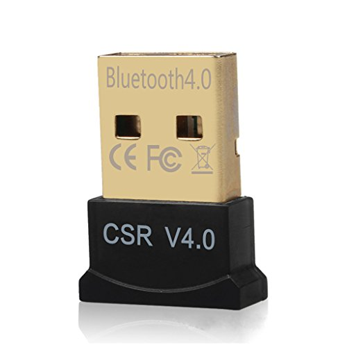 DayKit Mini USB Bluetooth CSR 4.0 Dual Mode Adapter Dongle for Windows 10 8 7 Vista XP 32/64 Bit Raspberry Pi Linux Black