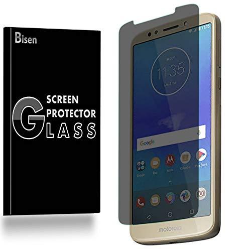 [BISEN] Motorola Moto E5 Plus, Motorola Moto E5 Supra Privacy Screen Protector Tempered Glass, Anti-Spy Screen, Anti-Scratch, Anti-Shock, Bubble Free, Lifetime Protection & Replacement