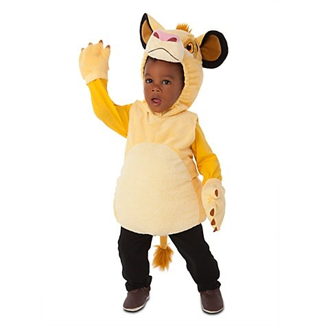 Disney Store Simba The Lion King Plush Halloween Costume For Boys: Toddler Size 2T