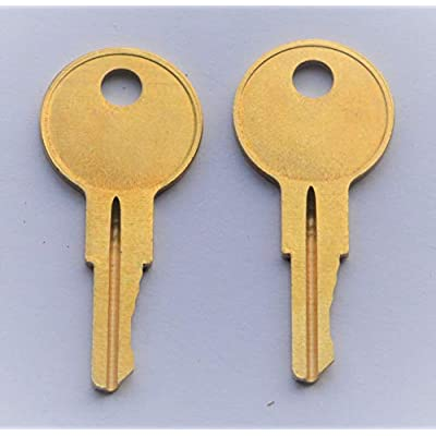 CH545 UWS Pair of 2 - Replacement New Keys for CH545 UWS Truck Tool Box Lock. Key pre Cut to Code by keys22