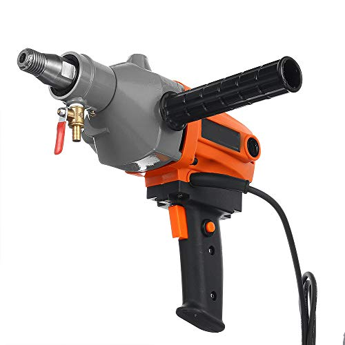 LWQ Mini Drill Diamond Core Drill,220V /1900W Wet Handheld Concrete Core Drilling Machine with Water Pump Accessories Drill Machine