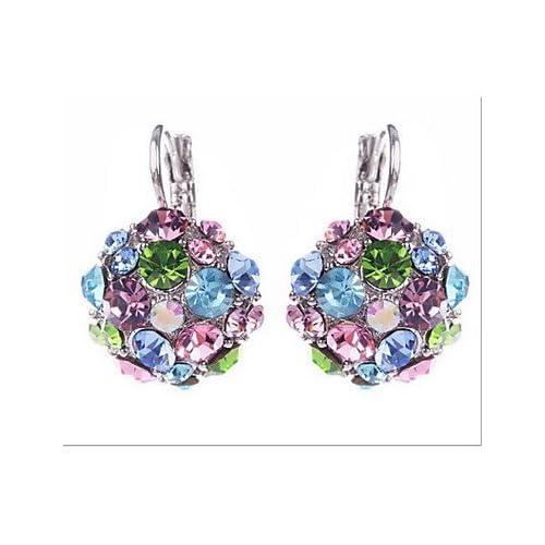 MJW&EH Femme Boucles d'oreille goujon Zircon cubique Alliage Bijoux Mariage Soirée Quotidien Décontracté Bijoux de fantaisie , one size