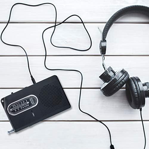 Portable AMFM Radio Compact Transistor Radio Handy Pocket Radio with Earphone Jack Builtin Speaker