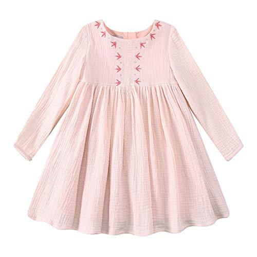 Kids Dresses for Girls Christmas Brand Princess Dress Autumn Embroidery Baby Girls Dress Children Clothing,22,8
