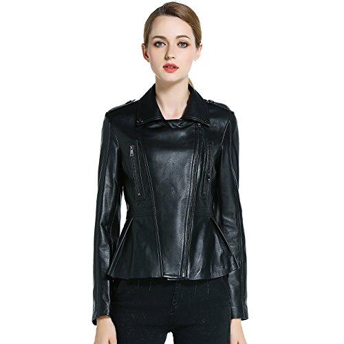 Sexy Lamb Costumes (ANJERAI SUGAR black women's genuine lambskin leather jacket (Medium))