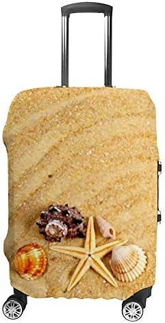 スーツケースカバー 伸縮素材 トランク カバー 洗える 汚れ防止 キズ保護 盗難防止 キャリーカバー おしゃれ サンド シェル ポリエステル 海外旅行 見つけやすい 着脱簡単 1枚入り