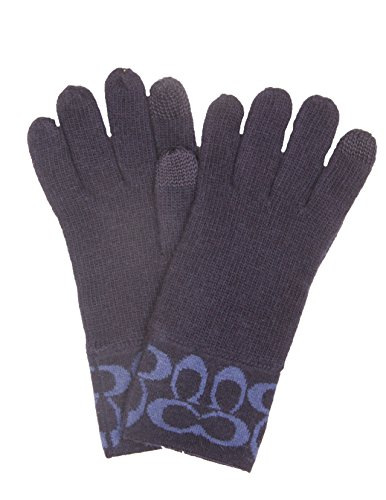 Coach Signature Logo Glove Fingertip