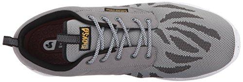 Dvs Footwear Herren Herren Premier 2.0 + Skate Schuh Graue Holzkohle benutzerdefinierte stricken