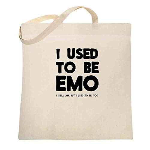 I Used To Be Emo I Still Am But I Used To Be Too Natural 15x15 inches Canvas Tote Bag