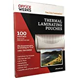 "Thermal Laminating Pouches, 8.9"" x 11.4"", 100 Pack, 3 Mil, Compatible With All Thermal Laminators"