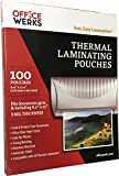 Thermal Laminating Pouches ,100 Pack , 8.9 x 11.4 Inch , 3 Mil, Compatible With All Thermal Laminators by Officewerks