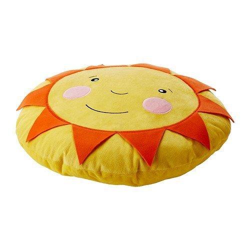 Soligt Cushion Pillow Yellow Orange Smiling Sunshine Accent Kids Children Toy Throw-Diameter: 16 inch (Sun Pillow)