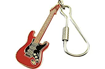 Amazon Com Aim Electric Guitar Keychain Red Musical Instruments