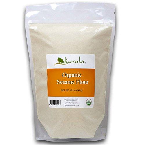 Flour Sesame Seeds (Kevala Organic Sesame Flour 16 oz 453 g)