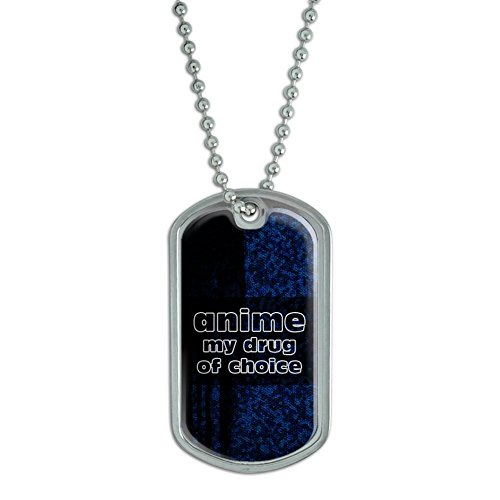 Anime-My-Drug-of-Choice-Military-Dog-Tag-Luggage-Keychain