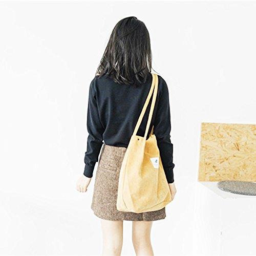 Shoulder Travel Shoulder For Fashion Bag Students Tote Bag Bag Handbag Bag Women Aixin Lady Girls Casual Shopping Shopping Bags Style Holiday Bag Cotton Dual Canvas Bag Yellow use Beach qqwaYP