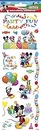 Sandylion Mickey Mouse - Sandylion Mickey Mouse Party 4 X 12 Tall Sticker with Glitter Wl