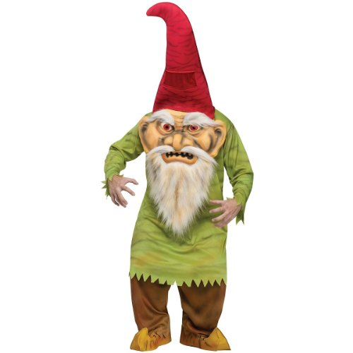 Fun World Big Head Evil Gnome Costume - Standard - Chest Size -