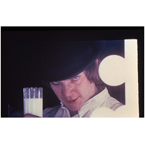 A Clockwork Orange (1971) 8 Inch x10 Inch Photo from Slide Malcolm McDowell Holding Glass kn